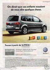 Publicité advertising 2011 VW Volkswagen Touran