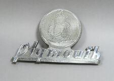 1940 P9 P10 Plymouth Sedan Car Trunk Deck Lid Badge Emblem 40