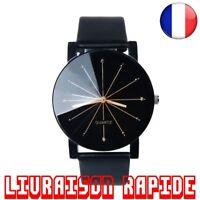 Montre Homme Femme Luxe Top Marque Quartz Cadran Bijoux Cuir Rond Bracelet Mode