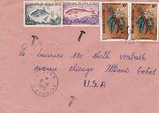 BD815) Ivory Coast 1975 nice cover to USA