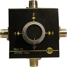 Zetagi V3 Antenna Switch  0-500MHz   CB Amateur Scanners Receivers Aerial
