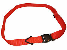 RLX Ralph Lauren Polo Orange Nylon Web Graphite Buckle M Belt Medium 34