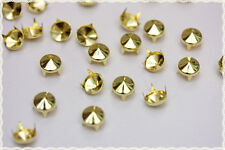 250pz  Borchie sfuse a cono con alette 9mm color ORO*250pz color gold CONE STUDS