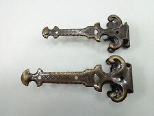 1 Paar Langbänder, Bänder, Scharniere. Antik bronze