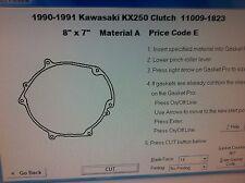 Kawasaki KX250  Clutch cover Gasket  1990 1991