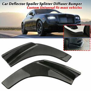 2PCS Car Deflector Spoiler Splitter Diffuser Bumper Canard Lip Body Shovels
