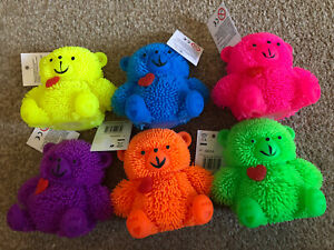 1 Light Up Flashing Puffer Teddy Bear Sensory Autism Fidget Toy Stress Relievers