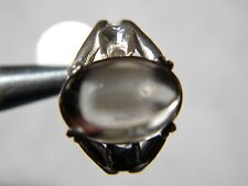 Rock Crystal Quartz Crystal Cabachon Ring 14x10mm 6.75Ct, 925 silver, size 7.5