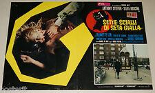 fotobusta film SETTE SCIALLI DI SETA GIALLA Sergio Pastore Shirley Corrigan 1972