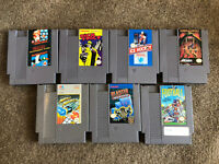 Lot Of 7 NES Nintendo Entertainment System Games - Tested (Dick Tracy, Mario...)
