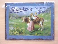 PLAQUE  METAL DECO  CHOCOLAT ROWNTREE'S SWISS MILK