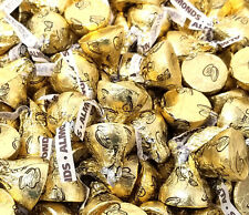 Hershey's Kisses Gold Foils Milk Chocolate with Almonds, Bulk Candy