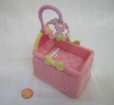 FISHER PRICE Loving Family Dollhouse BABY GIRL PINK BASSINET CRIB Mobile 2007 #2
