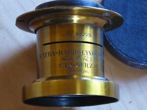 Messingobjektiv Goerz Extra Rapid Lynkeioskop f=21cm