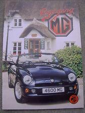 Enjoying MG (August 2002) MG RV8, MGF Trophy, C-Type, MGA Fuel Tank, MGA 1600