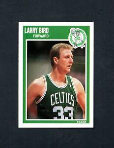 1989 Fleer Larry Bird #8  ~ Boston Celtics ~ Sharp & Centered!