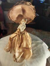 Vintage vanity porcelain half doll, holds powder puffs, unusual