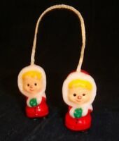 """Vintage Christmas Candles - Pair of Caroling Children 1.5"""" tall"""