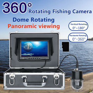 "9"" 360°20-100m Fishing Camera Underwater Fish Finder DVR Video Recorder LED Lamp"
