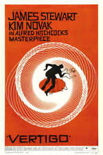 1958 Vertigo Vintage Alfred Hitchcock Movie Poster Print 54x36 Big 9Mil Paper