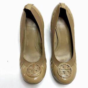 Tory Burch Caroline Wedge Heel Ballet Brown Women's 6.5