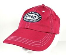 Jeep American Legend Embroider Stitched Red Unstructured Adjustable Dad Hat  Cap eaa2b5c9cd37