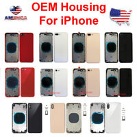 OEM New Back Glass Housing Cover Frame Assembly For iPhone 8 Plus X XS Max XR
