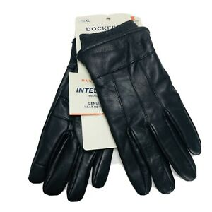 Dockers Intelitouch Genuine Brown Leather Gloves Sherpa Lining Size XL