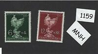 1944 Complete MNH stamp set / Goldsmiths Society / WWII Germany / Third Reich