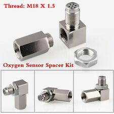 90° O2 Oxygen Sensor Spacer Engine Light CEL Check Bung Catalytic Converter Kit