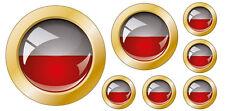Kfz-Aufkleber Flagge Polen Set KA