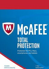 McAfee Total Protection 2017, 1 User - Unlimited Devices, 1 Year (NEW DOWNLOAD)