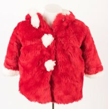 American Widgeon Girls Coat Jacket 3 Christmas Holiday Red Santa Claus Faux Fur