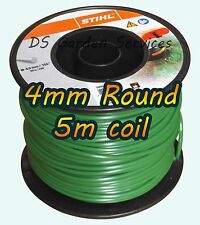 stihl trimmer line. 5m of stihl 4mm round brushcutter dr cobra hayter trimmer wheeled strimmer line stihl