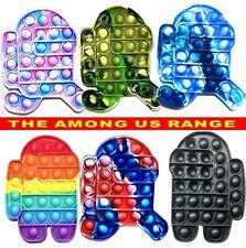 AMONG US Push Pop Kids Toy Bubble Special Needs it Silent Sensory Fidget Autism