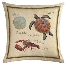 Kissenhülle Motivkissen Tiere Historische Bildtafel Meerestiere 4