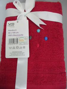 VS Home Trend  4 x Handtücher rot  Neu