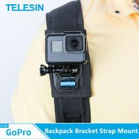 TELESIN Backpack Bracket Strap Mount Holder for Gopro DJI SJCAM Action Camera