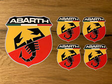 5x ABARTH Aufkleber 500 X L 4x4 Cross 695 Biposto Punto Panda Fiat Italien #490