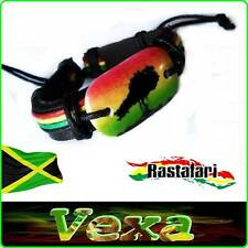 Wristband Rasta Reggae Jamajca Leather & Hemp Bracelet Bob Marley One Love BR10