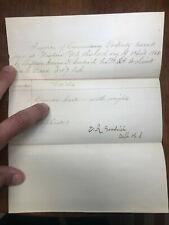 April 1862 New Bern N. C. Property Invoice Captain Goodrich Cs. to Lt Jos. Read