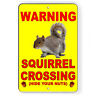 Squirrel Crossing Hide Your Nuts Metal Sign Or Decal 7 SIZES funny novelty SF022