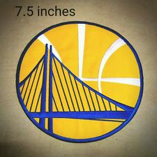 Golden State Warriors NBA Sport Logo (7.5inches) Yellow  iron-sewing-patch on