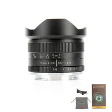 7artisans 7.5mm F2.8 Fisheye Wide Angle Lens For EOS-M/ FUJI FX/ SONY E/ M43