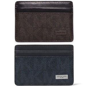 MICHAEL KORS Men's Jet Set Logo Money Clip Card Case Wallet ID Holder -