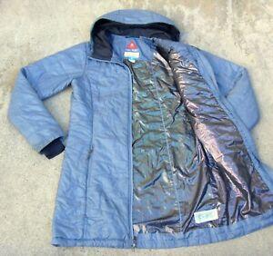 Columbia OMNI HEAT SHIELD hooded Puffer Coat Jacket Women's Sz M Gray