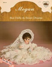 Dumplin Designs Megan BD512 Bed Dolls Sweet Dreams Crochet Pattern 1987