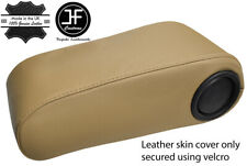 BEIGE TOP GRAIN REAL LEATHER ARMREST COVER FOR MERCEDES W124 1993-1996