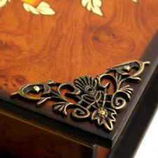 4Pcs Exquisite Antique Corner Protector Jewelry Box Wine Case Corner Decorative