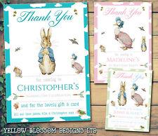 10 Peter Rabbit Personalised Thank You Birthday Christening Baptism Naming Day